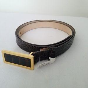 St. John Accessories - St John Belt Italian Leather Crocodile USA Made M